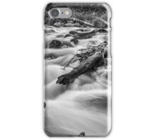 Flowing Rocky Mountain Stream in Black and White iPhone Case/Skin