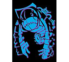 Metroid Fusion Nightmare - Blue Photographic Print