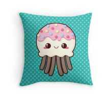 Candy Covered Jellyfish Throw Pillow
