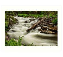 Flowing Rocky Mountain Stream Art Print