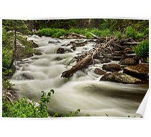 Flowing Rocky Mountain Stream Poster
