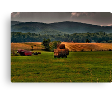 In A Days Work Canvas Print