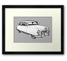 1950 Nash Ambassador Car illustration Framed Print