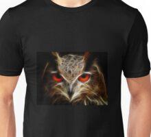 Owl - glowing eyes in the dark Unisex T-Shirt