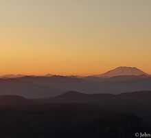 Breaching Sunset - Mt Adams Washington by John Newbury