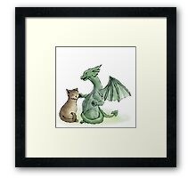 Furry Kitty, Scaly Kitty Framed Print