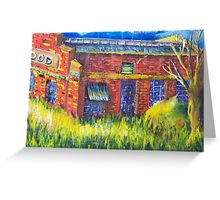Spotswood Rail Yard - sunny day Greeting Card