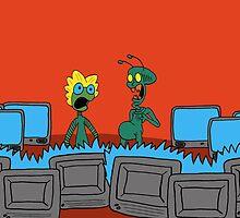 ZEEK and Nurdy visit (Planet) TVs by CattapanComics