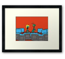 ZEEK and Nurdy visit (Planet) TVs Framed Print