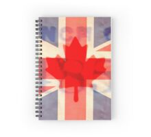 British and Canadian Flags Combination Spiral Notebook