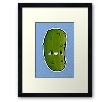 Kawaii Pickle Framed Print