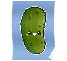 Kawaii Pickle Poster