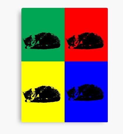 Pop Art Tabby Cat Canvas Print