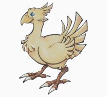 Final Fantasy Chocobo in Pastel & Colour Pencil Baby Tee
