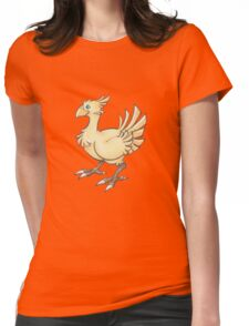Final Fantasy Chocobo in Pastel & Colour Pencil Womens Fitted T-Shirt