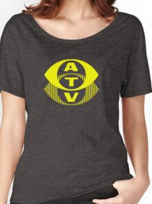 Retro TV ATV in a bright yellow Women's Relaxed Fit T-Shirt