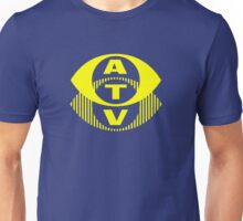 Retro TV ATV in a bright yellow Unisex T-Shirt