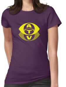 Retro TV ATV in a bright yellow Womens Fitted T-Shirt
