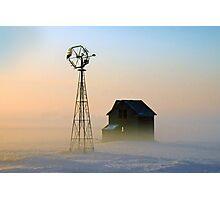 Winter Sunrise (Williams County) Photographic Print