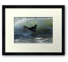 Bodyboarder - Culburra Beach Framed Print