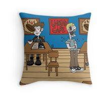 Vampires at the UnDead Cafe Throw Pillow
