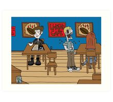 Vampires at the UnDead Cafe Art Print
