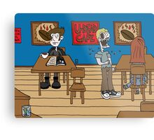 Vampires at the UnDead Cafe Metal Print