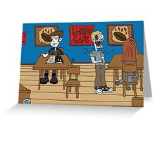 Vampires at the UnDead Cafe Greeting Card
