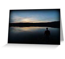 Sunset Minsi Fishing Greeting Card
