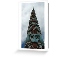 Totem pole in Jasper Alberta Canada Greeting Card