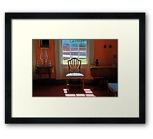 Window Lighting Framed Print