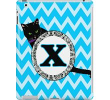 X Cat Chevron Monogram iPad Case/Skin