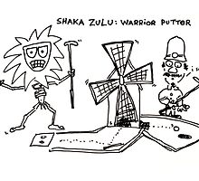 Shaka Zulu: Warrior Putter by Ollie Brock