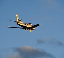 CAC 27 Sabre fly by on last light by poleposition