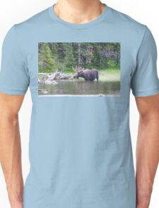 Water Feeding Moose Unisex T-Shirt