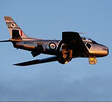 CAC 27 Sabre fly by on last light 02 by poleposition