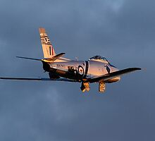 CAC 27 Sabre fly by on last light 03 by poleposition