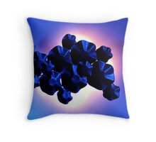 Blue Metal Wall Throw Pillow