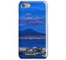 Blue Night in Naples - Mediterranean Impressions iPhone Case/Skin