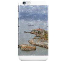 O faro da Illa de Arousa iPhone Case/Skin