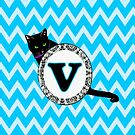 V Cat Chevron Monogram by gretzky