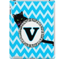 V Cat Chevron Monogram iPad Case/Skin