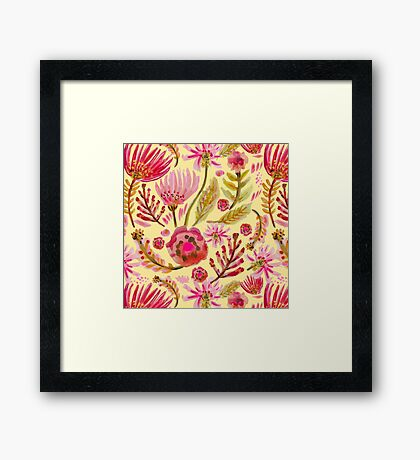 Daisies on Yellow Framed Print