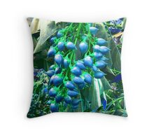 BLUE NUTS Throw Pillow