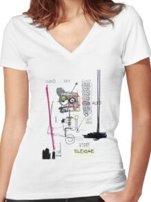 Weather System Women's Fitted V-Neck T-Shirt