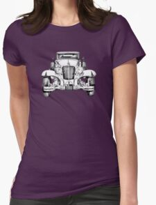 1929 Cord 6-29 Cabriolet Antique Car Illustration Womens Fitted T-Shirt