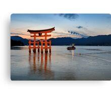 the Gate (torii) of Itsukushima Shrine  Canvas Print