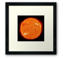 Spiritual Kloth Sun Of The Earth by Kordial Orange Framed Print