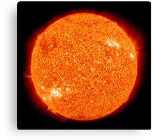 Spiritual Kloth Sun Of The Earth by Kordial Orange Canvas Print