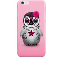 Pink Day of the Dead Sugar Skull Penguin  iPhone Case/Skin